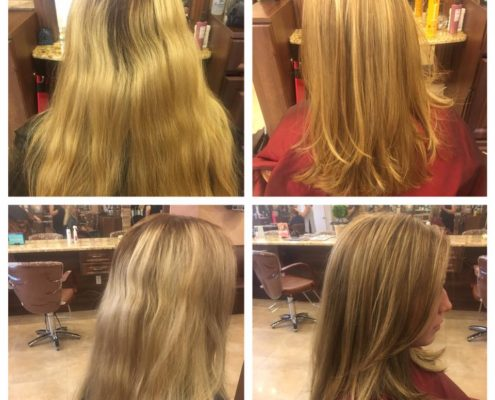 Before and After Color and Cut by Kristi